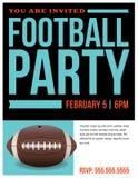 American Football Party Flyer Invitation Illustration Stock Photos