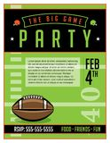 American Football Party Flyer Template Illustration Royalty Free Stock Photos