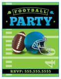 American Football Party Flyer Template Illustration Stock Photography