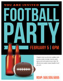 American Football Party Flyer Template Stock Photo