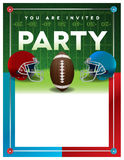 American Football Party Flyer Template Stock Images