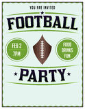 American Football Party Illustration Flyer Poster Royalty Free Stock Photo