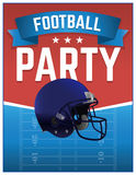 American Football Party Illustration Stock Images
