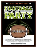 American Football Party Invitation Template Background Illustrat. An American football party invitation template background illustration. Vector EPS 10 available Stock Photography