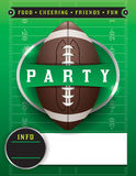 American Football Party Template Illustration Stock Photography