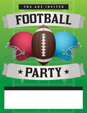 American Football Party Template Illustration Stock Images