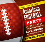 American Football Party. Vector Background Stock Image