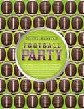 American Football Pattern Party Flyer Royalty Free Stock Photo
