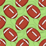 American Football pattern - Sport - #3 Royalty Free Stock Image