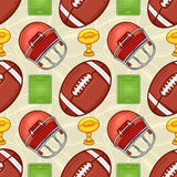 American Football pattern - Sport - #2 Royalty Free Stock Image