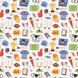 American football pattern vector illustration Royalty Free Stock Photography
