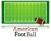 American Football pitch and ball. Each element on separate layer Royalty Free Stock Images