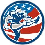 American Football Placekicker Circle Retro Royalty Free Stock Images