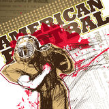 American football player. Stock Image