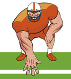 American football player. Vector illustration American football player Vector Illustration