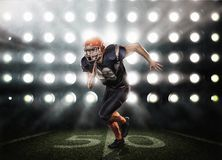 American football player in action Royalty Free Stock Image