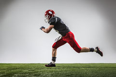 The american football player in action Stock Photos