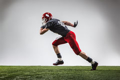 The american football player in action Royalty Free Stock Photos