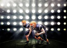 American football player in action Stock Photo