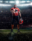 American football player in action Royalty Free Stock Images