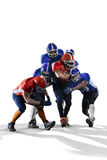 American football player in action. American football players in action on grand arena Royalty Free Stock Photo