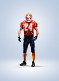 American football player in action white isolated Stock Photography