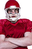 American football player with arms crossed Royalty Free Stock Images