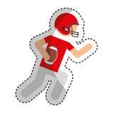 American football player avatar Royalty Free Stock Photo