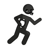 American football player avatar Stock Photos