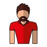 American football player avatar Royalty Free Stock Photos