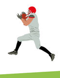 American football player ball catch Stock Photo