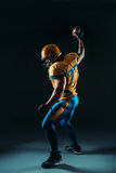 American football player with ball in hand, NFL Royalty Free Stock Photography