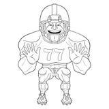 American football player Stock Image