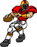 American Football Player Cartoon Stock Images
