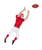 American Football player catching ball Stock Photos
