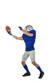 American football player catching ball Royalty Free Stock Photos