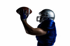American football player catching ball Royalty Free Stock Image