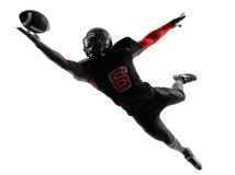 Free American Football Player Catching Ball Silhouette Stock Image - 36694801