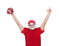American Football player celebrating stock image