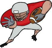 American Football Player Charging Stock Image