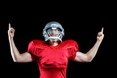 American football player cheering Stock Photo