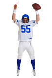 American football player cut out. Photo of an American football player, cut out on a white background Royalty Free Stock Images