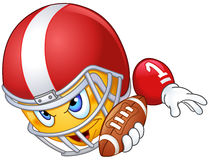 American football player emoticon Royalty Free Stock Image