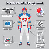American football player equipment. For training and competitions Stock Photography