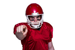 American football player finger pointing Royalty Free Stock Photography