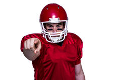 American football player finger pointing Stock Photos