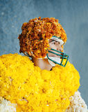 American football player - flower made Royalty Free Stock Photos