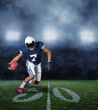 American Football Player during a game Royalty Free Stock Photo