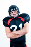 American football player in helmet Royalty Free Stock Image
