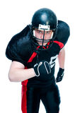American football player in helmet Royalty Free Stock Photos